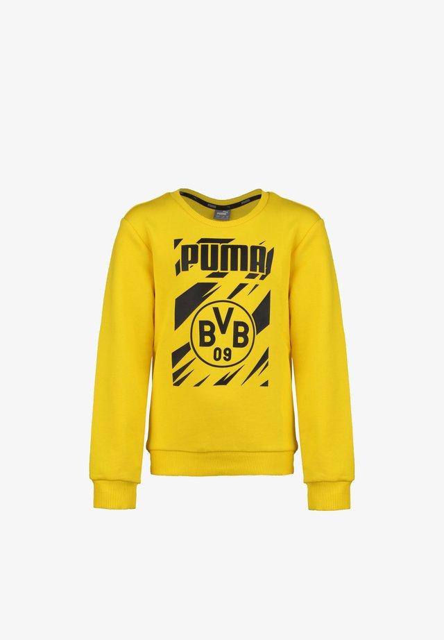 BORUSSIA DORTMUND FTBLCORE GRAPHIC CREW  - Sweatshirt - cyber yellow / puma black