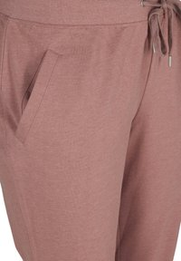 Active by Zizzi - Tracksuit bottoms - rose taupe melange - 3