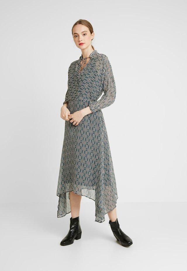 MISTA DRESS - Korte jurk - teal geometric pattern