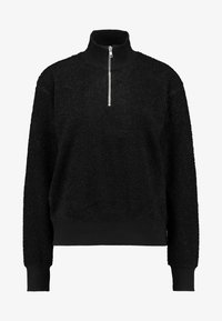 Topshop - CURLY ZIP UP FUNNEL - Jersey de punto - black - 3