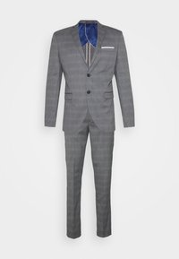 Selected Homme - SLHSLIM-NAS GREY CHECK SUIT - Oblek - grey/blue/white - 8
