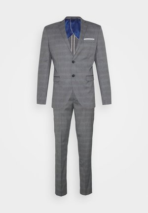 SLHSLIM-NAS GREY CHECK SUIT - Garnitur - grey/blue/white