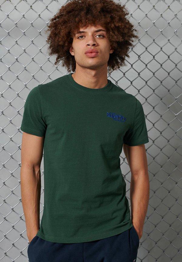 Superdry CLASSIC - T-shirt basic - enamel green/zielony Odzież Męska YZIM