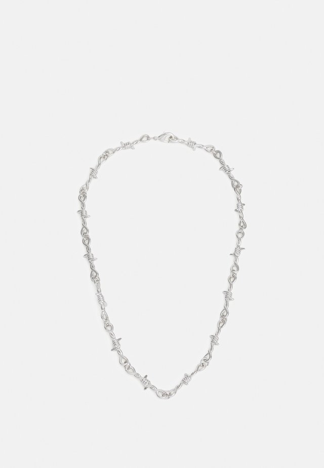 BARBED WIRE NECKLACE - Collana - silver-coloured