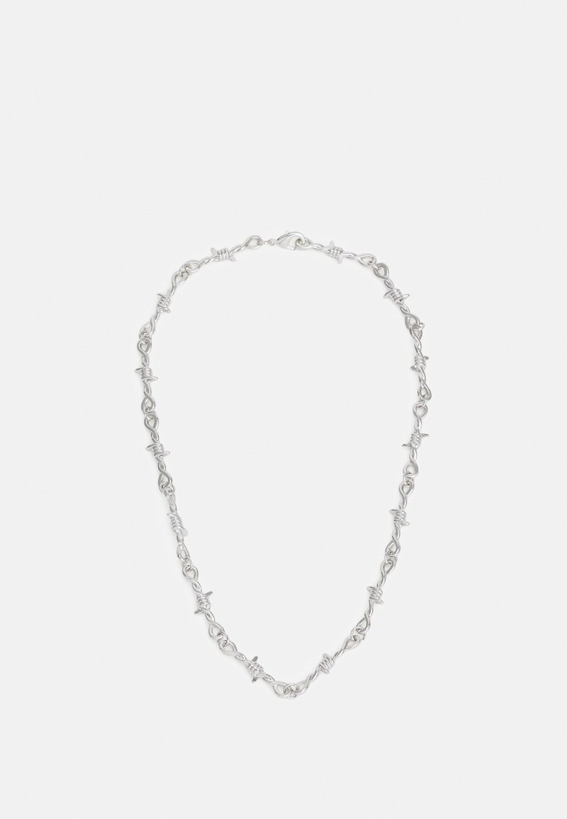 Urban Classics - BARBED WIRE NECKLACE - Náhrdelník - silver-coloured