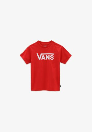 BY VANS CLASSIC KIDS - Print T-shirt - high risk red
