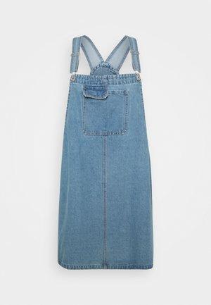 UTILITY PINAFORE - Denimové šaty - brunswick blue