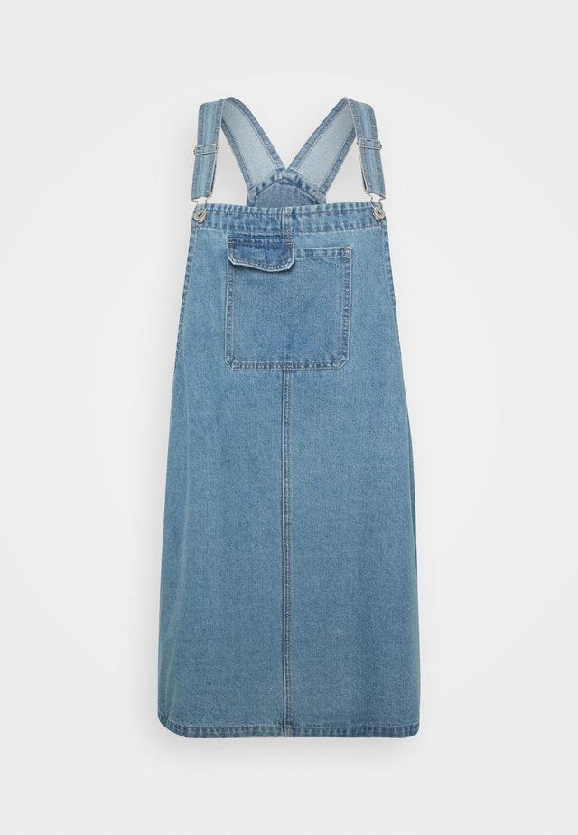 UTILITY PINAFORE - Denim dress - brunswick blue