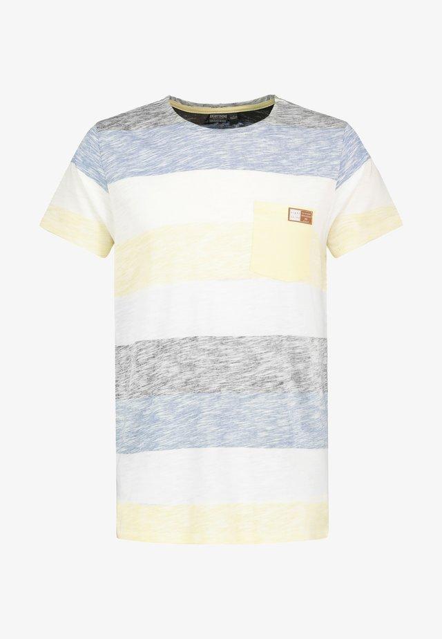 MIT STREIFEN-PRINT - Print T-shirt - yellow