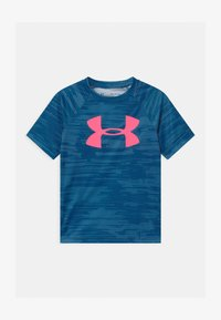 Under Armour - TECH BIG LOGO PRINTED  - Print T-shirt - graphite blue - 0