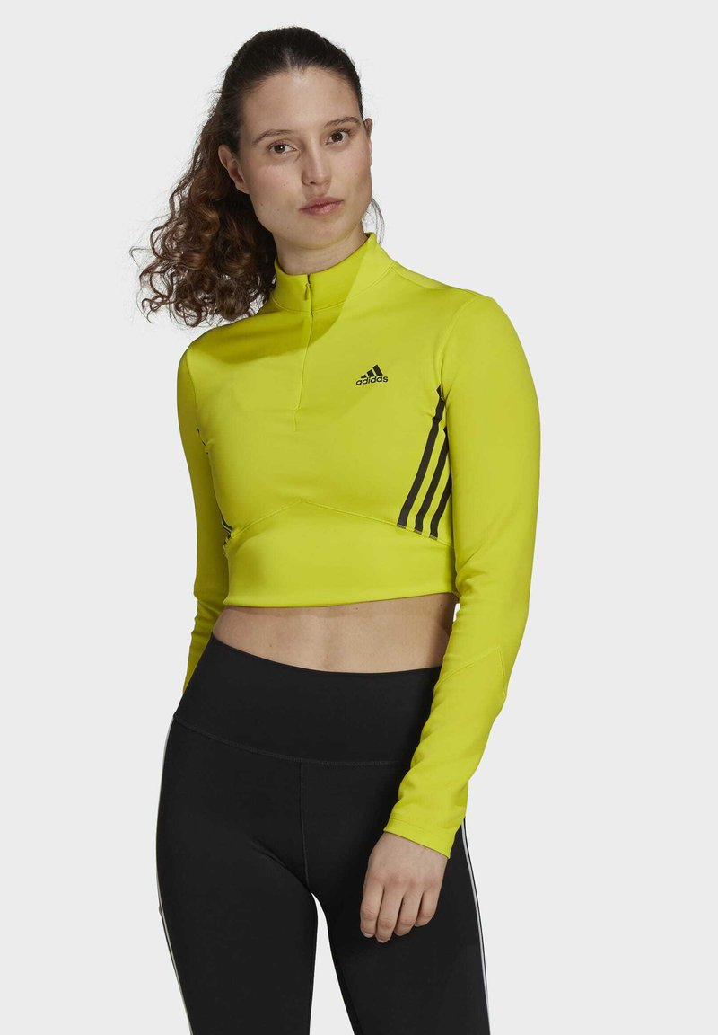 adidas Performance - Pitkähihainen paita - yellow