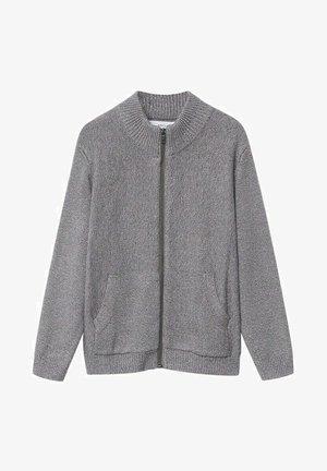 DAVID - Zip-up hoodie - gris chiné moyen