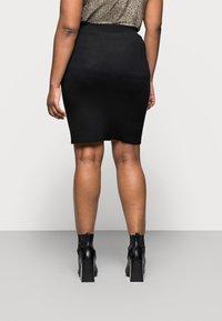 Kaffe Curve - KITY SKIRT - Pencil skirt - black deep - 2