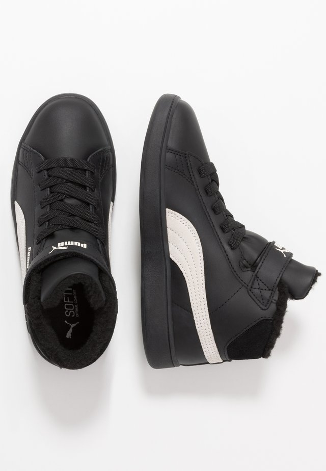 SMASH MID - High-top trainers - black/whisper white