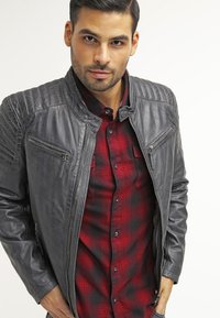 Gipsy - CHESTER - Leather jacket - dunkelgrau - 3
