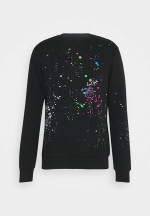 GENTS PAINT SPLATTER PRINT - Sweatshirt - black