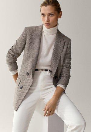 MIT HAHNENTRITT - Short coat - beige
