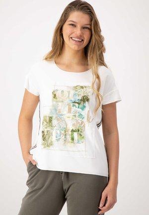 Print T-shirt - offwhite uni