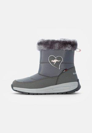 ELISA - Bottes de neige - steel grey/frost pink
