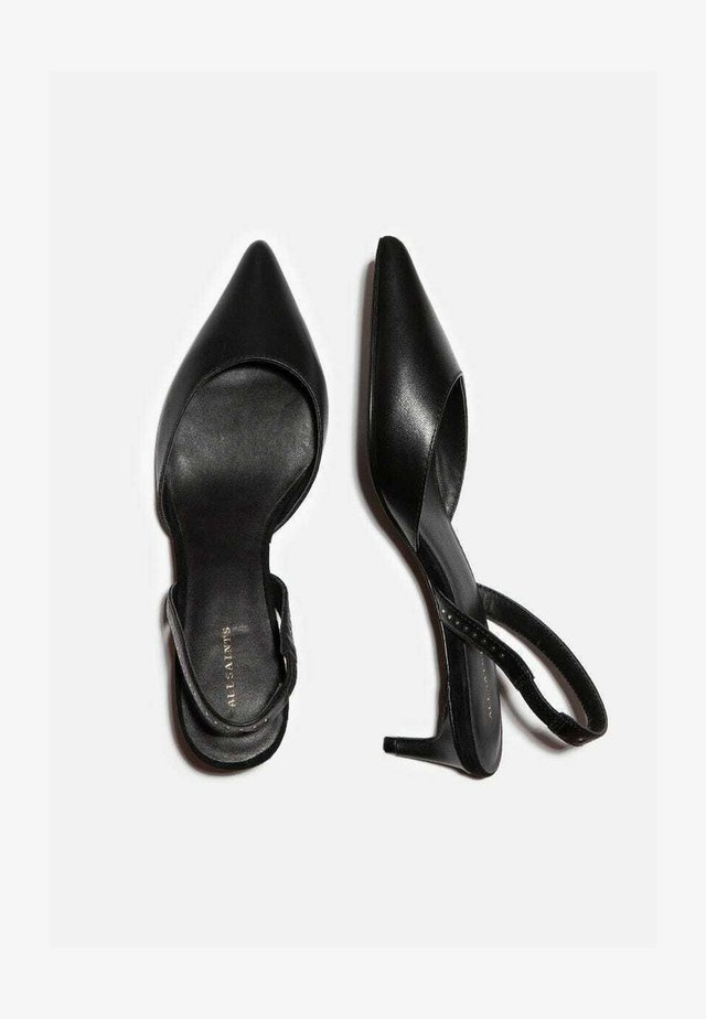 MIA  CALF SLING BACK KITTEN - Classic heels - black