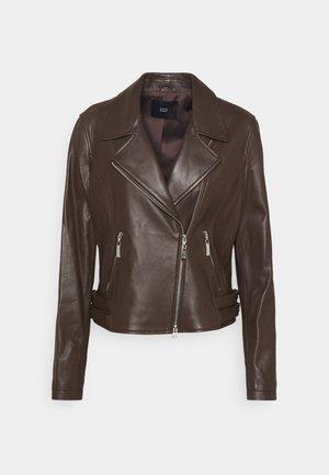 RANCHERA LUXURY BIKER JACKET - Leather jacket - dark brown
