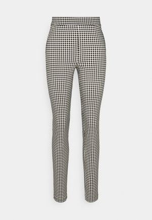 TALL GINGHAM TROUSER - Trousers - black