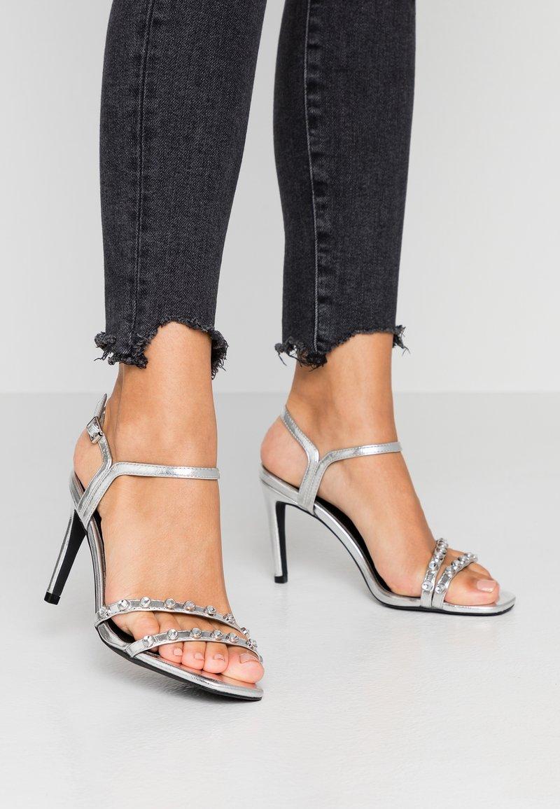 Even&Odd - Sandaler med høye hæler - silver
