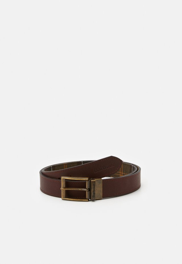 REVERSIBLE TARTAN BELT - Gürtel - brown