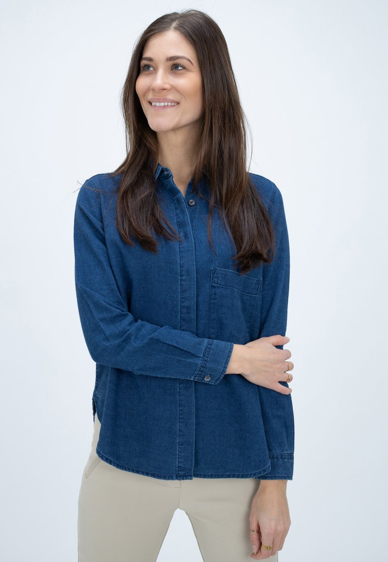 CLOSED - HAILEY - Button-down blouse - blue