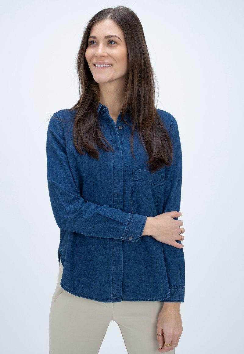 CLOSED - HAILEY - Button-down blouse - blue