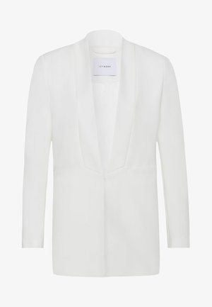 SHAWL COLLAR - Short coat - white