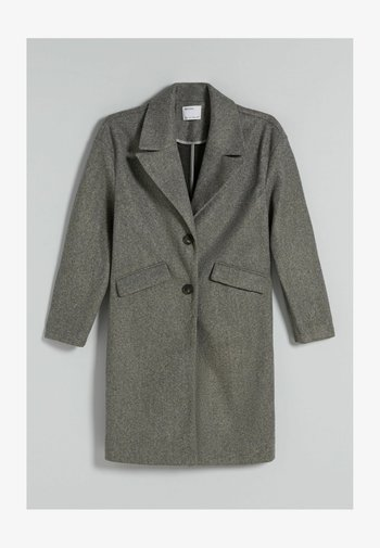 MIT FALLENDEN SCHULTERNÄHTEN  - Classic coat - grey