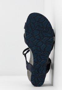 Panama Jack - JULIA BASICS - Sandali con zeppa - dunkelblau - 6