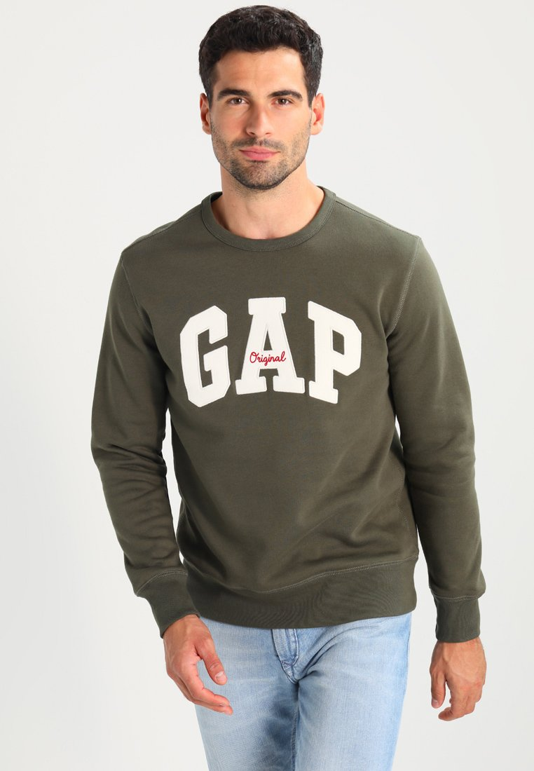 GAP - ORIGINAL ARCH CREW - Sweatshirt - black moss