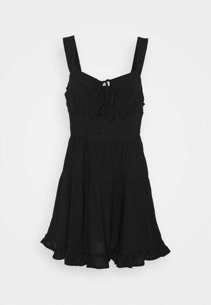 SANDY SKATED DRESS - Denní šaty - black