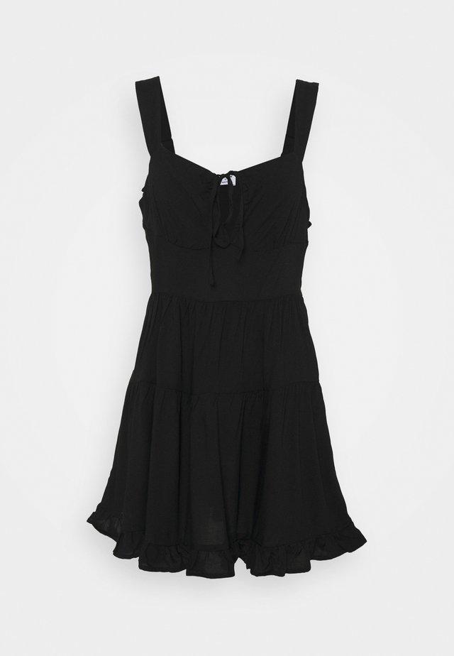 SANDY SKATED DRESS - Sukienka letnia - black