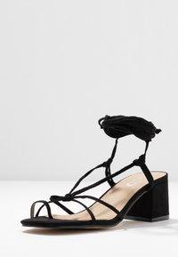 EGO - HESSI - Sandály s odděleným palcem - black - 4