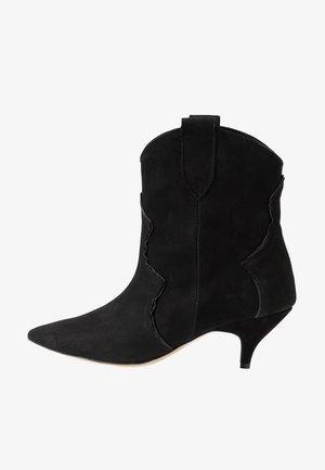 REACH OUT MORE - Cowboy/biker ankle boot - black