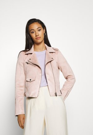 BIKER - Faux leather jacket - rose smoke