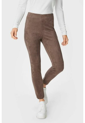 Leggings - Trousers - taupe