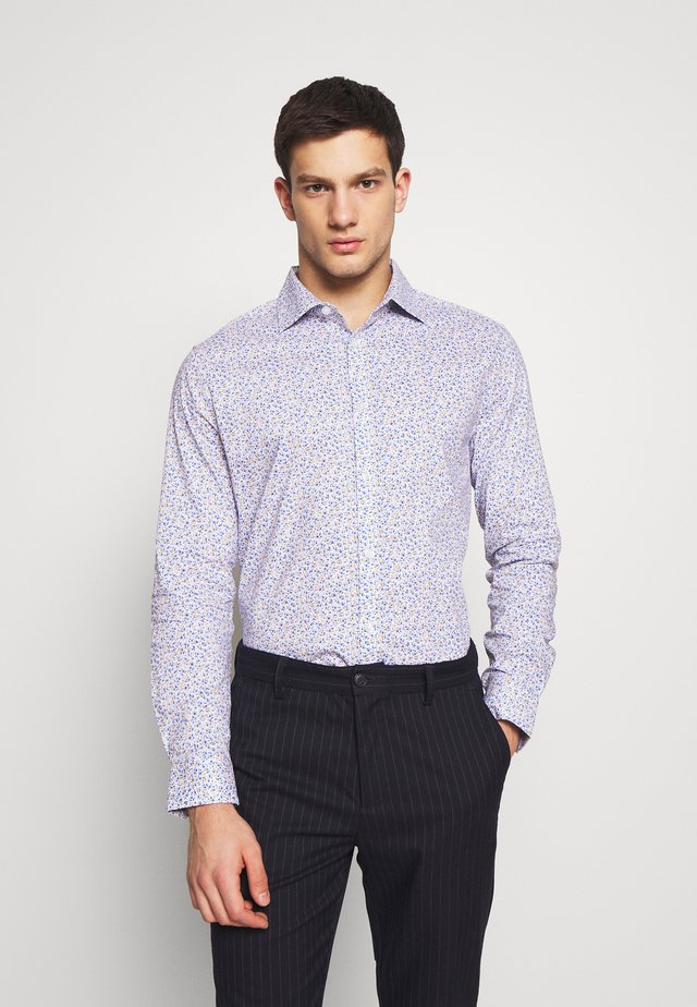 FLORAL PRINT SLIM FIT - Overhemd - white