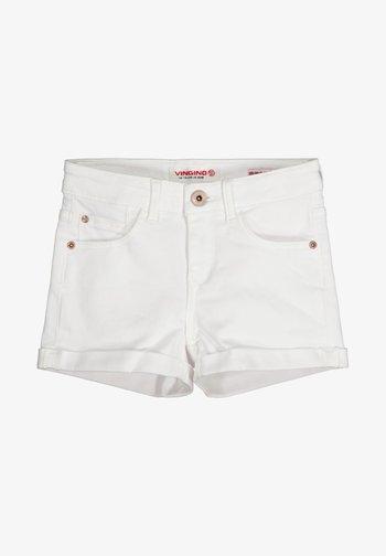 Jeansshort - white denim