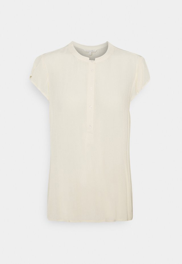 EASY TUNIC WITH NECK DETAIL - Tunika - soft creme beige