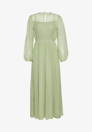 SWISS DOT MAXI DRESS - Iltapuku - green
