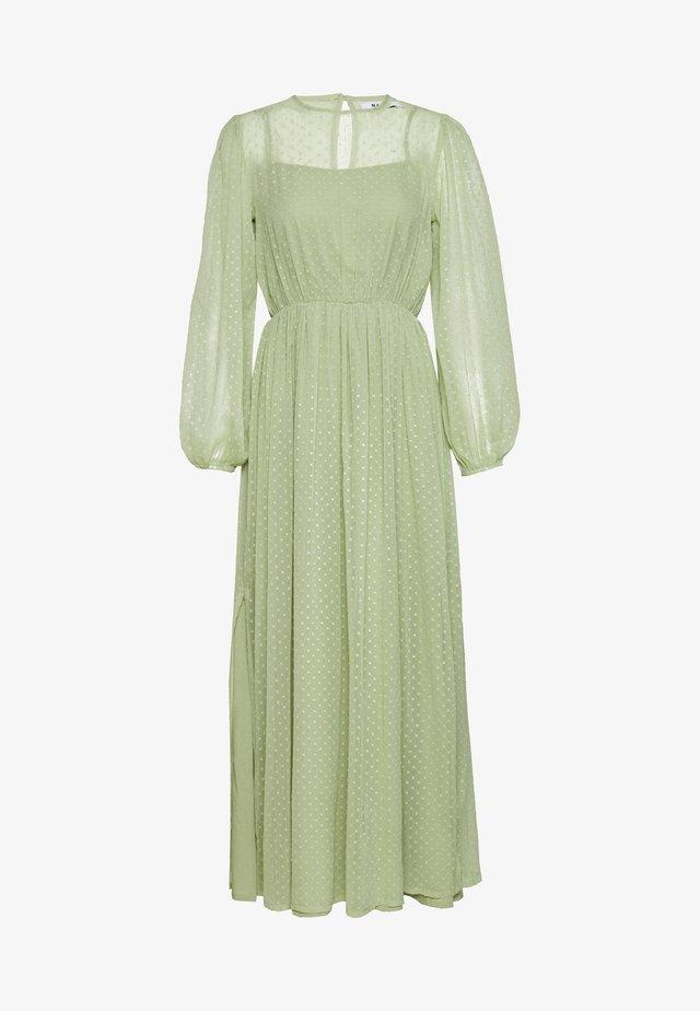 SWISS DOT MAXI DRESS - Iltapuku - green