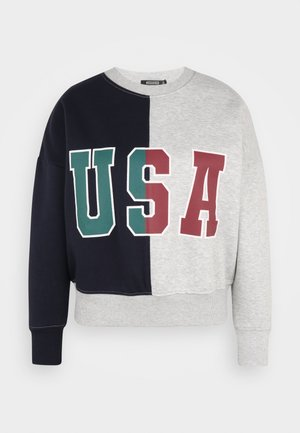 USA COLOUR BLOCK  - Sweatshirt - grey