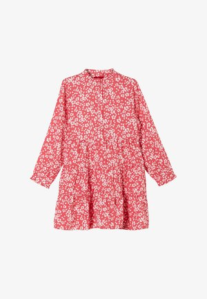 Shirt dress - pink floral aop