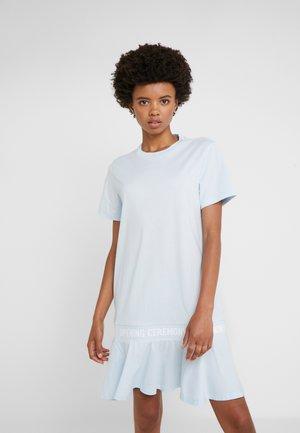 SCALLOP LOGO CROP DRESS - Jersey dress - dust blue
