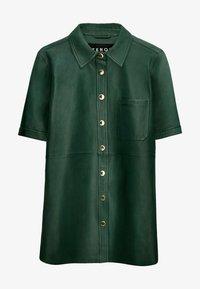 Uterqüe - Leather jacket - green - 5