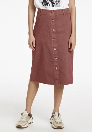 A-line skirt - marsala